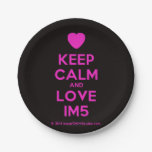 [Love heart] keep calm and love im5  Paper Plates 7 Inch Paper Plate