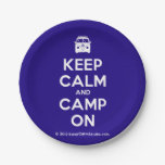 [Campervan] keep calm and camp on  Paper Plates 7 Inch Paper Plate