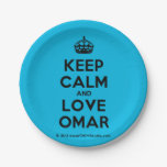 [Crown] keep calm and love omar  Paper Plates 7 Inch Paper Plate