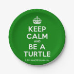 [Crown] keep calm and be a turtle  Paper Plates 7 Inch Paper Plate