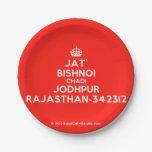 [Crown] jat' bishnoi chadi jodhpur rajasthan-342312  Paper Plates 7 Inch Paper Plate