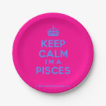 [Crown] keep calm i'm a pisces  Paper Plates 7 Inch Paper Plate