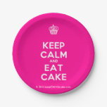 [Cupcake] keep calm and eat cake  Paper Plates 7 Inch Paper Plate