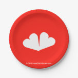 [Two hearts]  Paper Plates 7 Inch Paper Plate