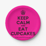 [Cupcake] keep calm and eat cupcakes  Paper Plates 7 Inch Paper Plate
