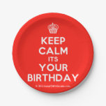 [Cupcake] keep calm its your birthday  Paper Plates 7 Inch Paper Plate