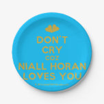 [Two hearts] don't cry coz niall horan loves you  Paper Plates 7 Inch Paper Plate