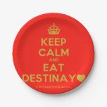 [Crown] keep calm and eat destinay♥  Paper Plates 7 Inch Paper Plate