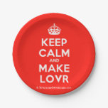 [Crown] keep calm and make lovr  Paper Plates 7 Inch Paper Plate