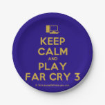 [Computer] keep calm and play far cry 3  Paper Plates 7 Inch Paper Plate