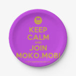 [Smile] keep calm and join moko.mobi  Paper Plates 7 Inch Paper Plate
