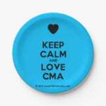 [Love heart] keep calm and love cma  Paper Plates 7 Inch Paper Plate