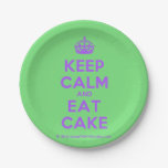 [Crown] keep calm and eat cake  Paper Plates 7 Inch Paper Plate