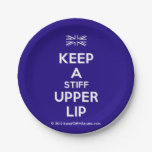 [UK Flag] keep a stiff upper lip  Paper Plates 7 Inch Paper Plate