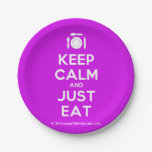 [Cutlery and plate] keep calm and just eat  Paper Plates 7 Inch Paper Plate