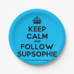 [Crown] keep calm and follow supsophie  Paper Plates 7 Inch Paper Plate