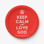 [Cupcake] keep calm and love god  Paper Plates 7 Inch Paper Plate