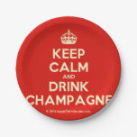 [Crown] keep calm and drink champagne  Paper Plates 7 Inch Paper Plate