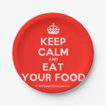 [Crown] keep calm and eat your food  Paper Plates 7 Inch Paper Plate
