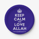 [Crown] keep calm and love allah  Paper Plates 7 Inch Paper Plate