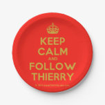 [Crown] keep calm and follow thierry  Paper Plates 7 Inch Paper Plate