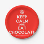 [Cupcake] keep calm and eat chocolate  Paper Plates 7 Inch Paper Plate