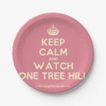 [Crown] keep calm and watch one tree hill  Paper Plates 7 Inch Paper Plate