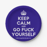 [Crown] keep calm and go fuck yourself  Paper Plates 7 Inch Paper Plate