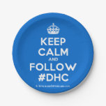 [Crown] keep calm and follow #dhc  Paper Plates 7 Inch Paper Plate