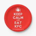 [Cutlery and plate] keep calm and eat kfc  Paper Plates 7 Inch Paper Plate