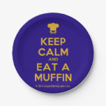 [Chef hat] keep calm and eat a muffin  Paper Plates 7 Inch Paper Plate