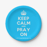 [Crown] keep calm and pray on  Paper Plates 7 Inch Paper Plate