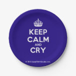 [Crown] keep calm and cry  Paper Plates 7 Inch Paper Plate