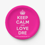 [Crown] keep calm and love dre  Paper Plates 7 Inch Paper Plate