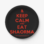 [Campfire] keep calm and eat shaorma  Paper Plates 7 Inch Paper Plate