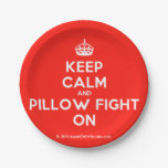 [Crown] keep calm and pillow fight on  Paper Plates 7 Inch Paper Plate