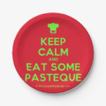 [Chef hat] keep calm and eat some pasteque  Paper Plates 7 Inch Paper Plate