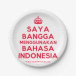[Crown] saya bangga menggunakan bahasa indonesia  Paper Plates 7 Inch Paper Plate