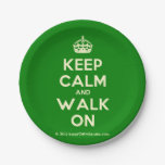 [Crown] keep calm and walk on  Paper Plates 7 Inch Paper Plate