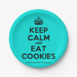 [Crown] keep calm and eat cookies  Paper Plates 7 Inch Paper Plate