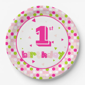 "Paper Plates 9"" Customize Age"