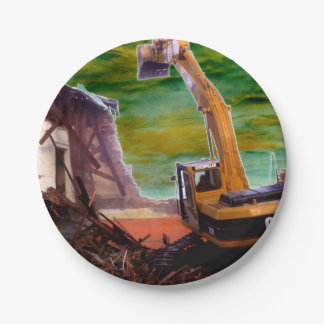 paper plates Big Feed construction 7 Inch Paper Plate