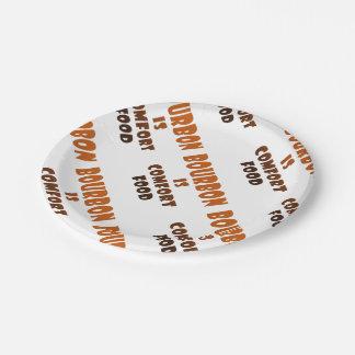 PAPER PLATES - BOURBON is Comfort Food