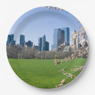 Paper Plates - Central Park Spring, New York City 9 Inch Paper Plate
