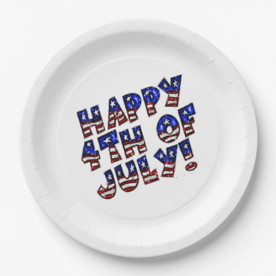 Paper Plates/Happy 4th of July Paper Plate