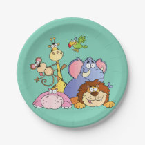 Paper Plates--Jungle Animals Paper Plate