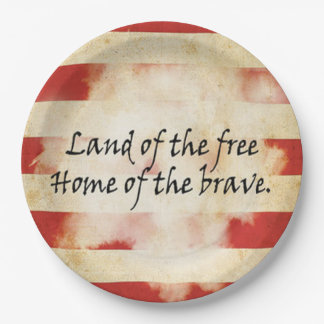 Paper Plates/Land of the Free, Home of the Brave Paper Plate
