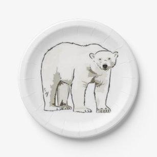 Paper plates Polar Bear  sc 1 st  Zazzle & Holiday Polar Bear Plates | Zazzle
