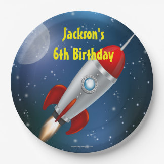 Paper Plates Space Ship Birthday Party 9 Inch Paper Plate