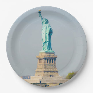 Paper Plates - Statue of Liberty, New York City 9 Inch Paper Plate